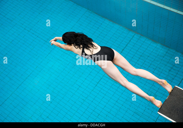 Diving Board Fear Stock Photos Diving Board Fear Stock Images Alamy