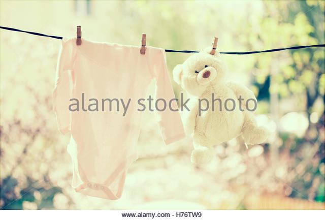 Baby Clothes Line Stock Photos Amp Baby Clothes Line Stock