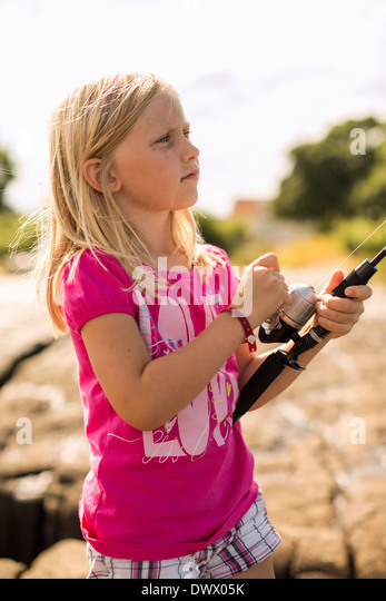 Rods stock photos rods stock images alamy for Little girl fishing pole