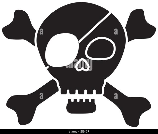 Skull And Crossbones Black And White Stock Photos & Skull ...