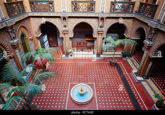 portugal lisbon rossio casa do alentejo stock image