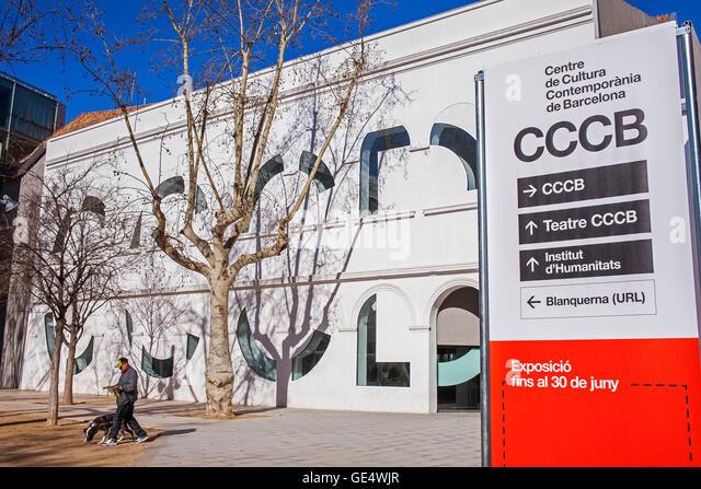 cccb culture center of barcelona barcelona catalonia spain stock image