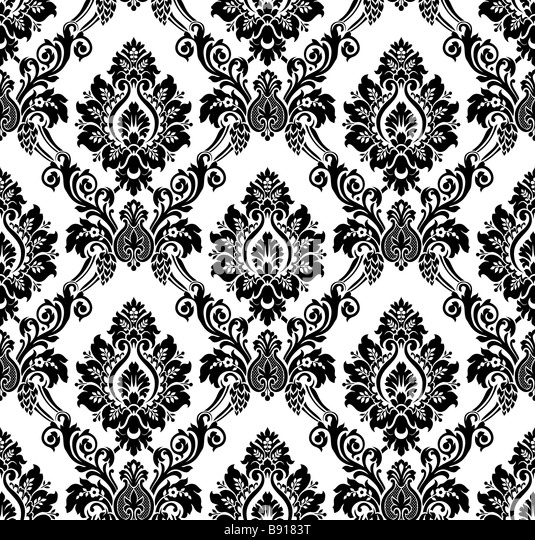 Black And White Vintage Pattern Background
