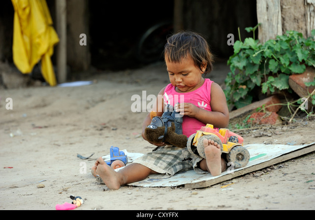 Poor People Toys : Poor kids toys stock photos images