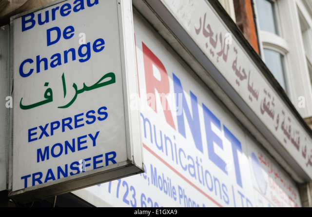 Transfer money stock photos transfer money stock images alamy - Western union bureau de change ...