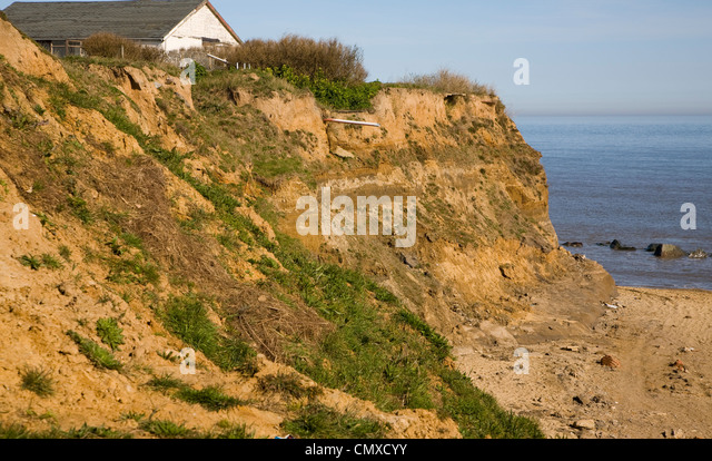 coastal erosion at happisburgh norfolk Happisburgh, on the norfolk coast, is a village of about 600 houses, with a stone  church dating from the 14th century and a famous red and.