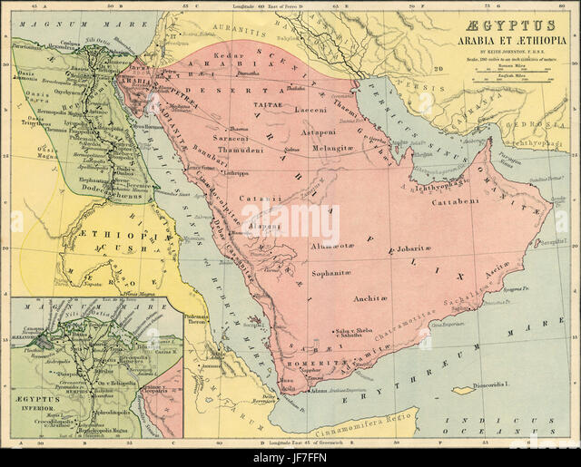 Map Ancient Egypt Stock Photos Map Ancient Egypt Stock Images - Map of egypt ethiopia