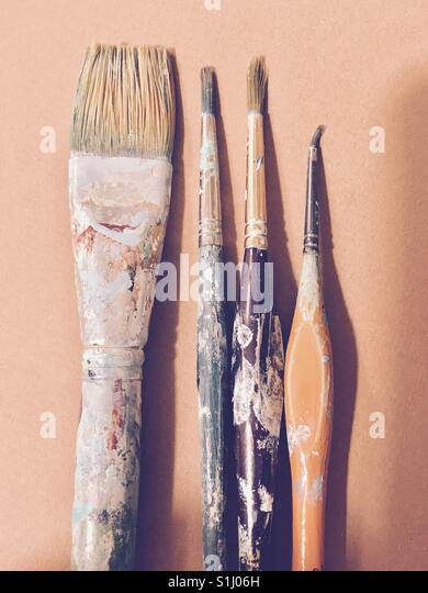 how to clean paint brushes with dried paint on them