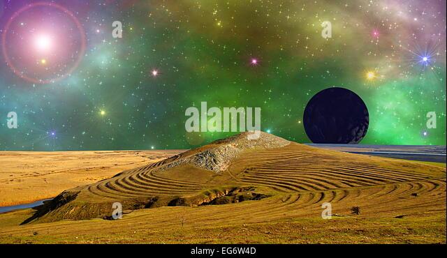 landscape space nebula - photo #44