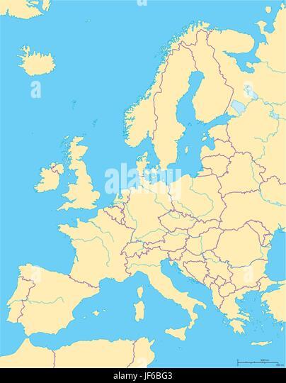 political europe continent european union eurasia map atlas map