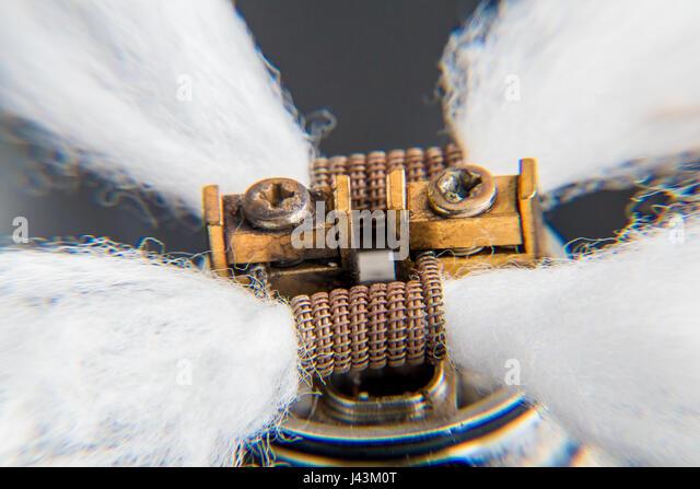 DIY RDA Dripper Coils - Stock Image