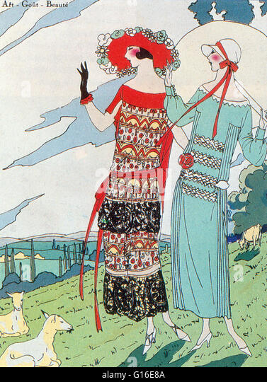 1923 fashion stock photos 1923 fashion stock images alamy for Pochoir technique