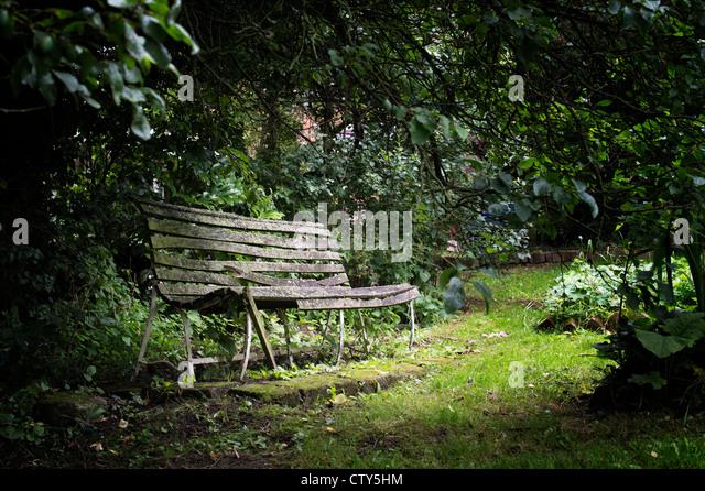 Garden Bench Broken Stock Photos Garden Bench Broken Stock