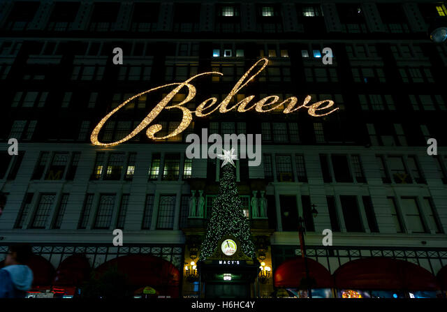 Believe Christmas Sign In Macy Stock Photos & Believe Christmas ...