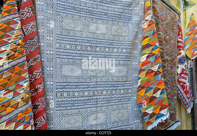 Colourful Moroccan Rugs For Sale   Stock Image