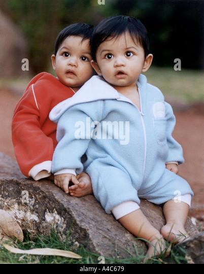 Twin Baby Boys Sitting On Stock Photos Amp Twin Baby Boys