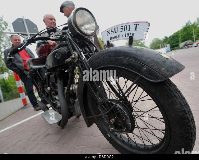 6971f18e Visitors observe a classic motorcycle of the brand NSU at the premises of  DEKRA (German