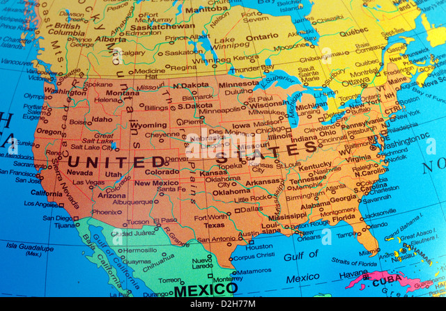 The United States Of America Stock Photos The United States Of - A usa map
