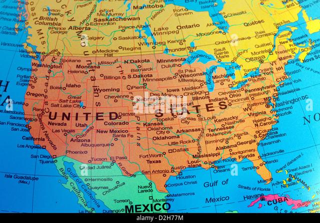 Map Od Usa Map Usa Map