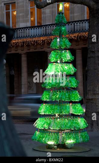 Christmas Tree Made Recycled Stock Photos & Christmas Tree Made ...