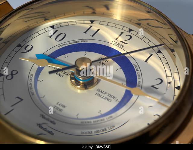tide clock stock image - Tide Clock