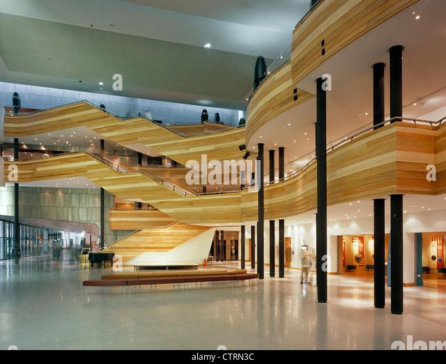 Foyer Area News : Welsh millennium centre main foyer stock photos