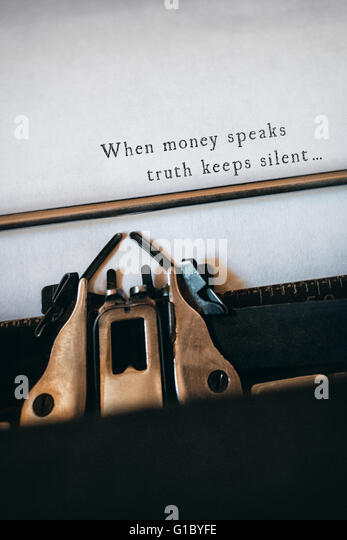 When money speaks, the truth keeps silent - Wimal