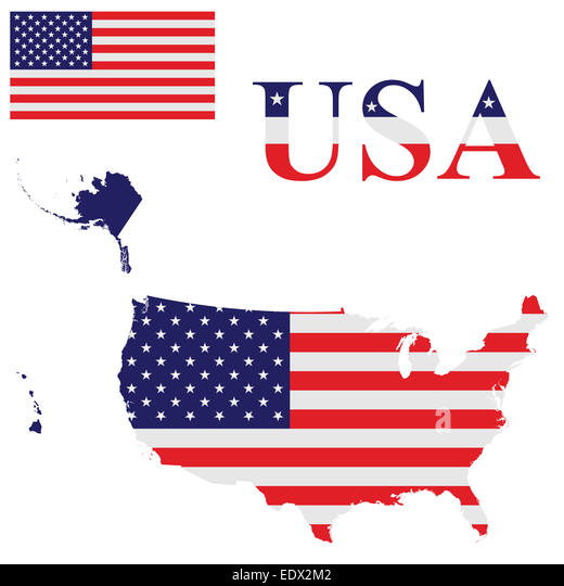 United States Map Alaska And Hawaii Stock Photos United States - Us map including hawaii