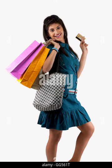 Girls Shopping Bags Indoor Stock Photos & Girls Shopping Bags ...