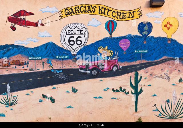 Albuquerque route 66 stock photos albuquerque route 66 for Route 66 mural