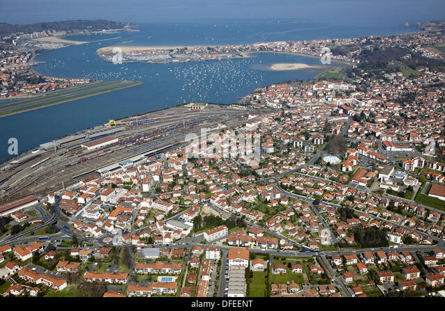 In the left foreground stock photos in the left for Hendaye france