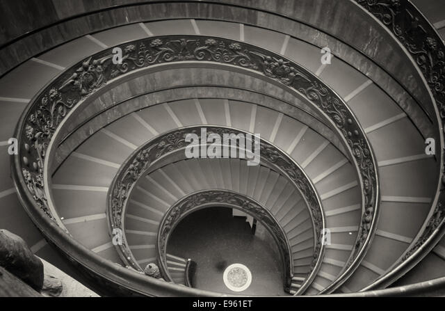 Double staircase interior stock photos double staircase for Double curved staircase