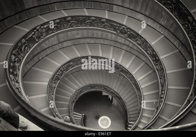 Double staircase interior stock photos double staircase for Double curved staircase