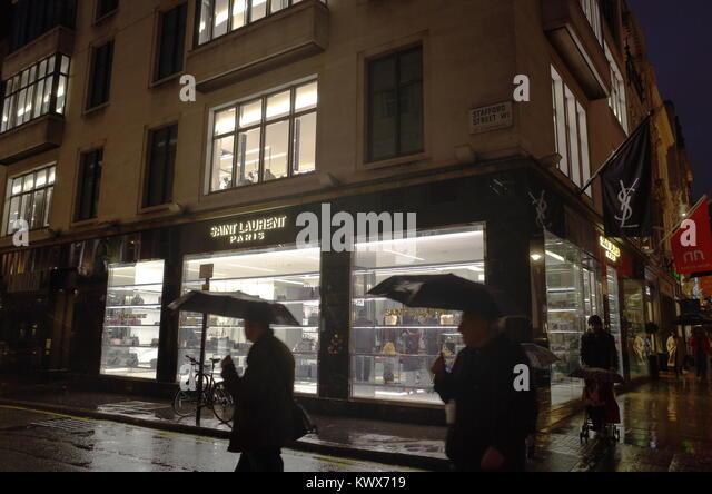 Yves saint laurent shop stock photos yves saint laurent for Ada jardin perfume