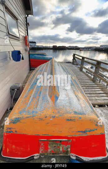 Wooden dory stock photos wooden dory stock images alamy for Ornamental pond fish port allen