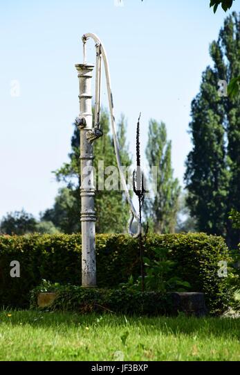 Alter Brunnen Im Garten   Stock Image