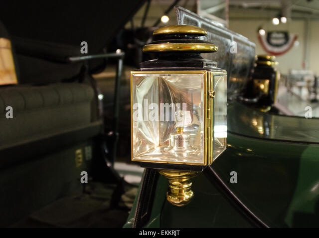 brass lamps stock photos brass lamps stock images alamy brass lantern on a 1908 rauch lang runabout at the seal cove auto museum maine