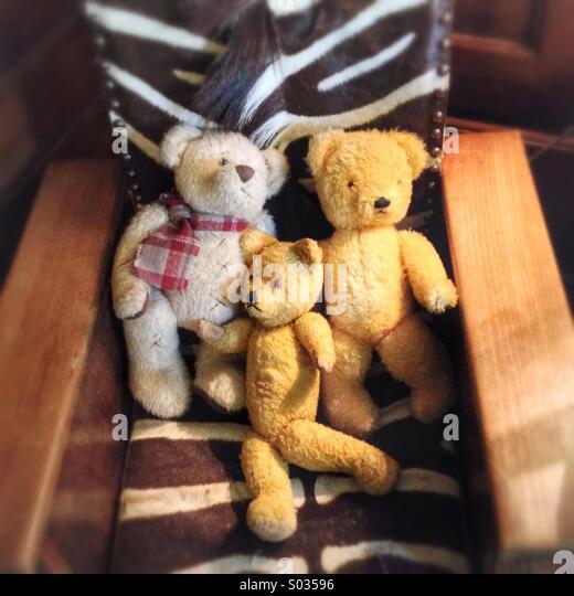Teddy Bears And Chair Stock Photos & Teddy Bears And Chair Stock ...