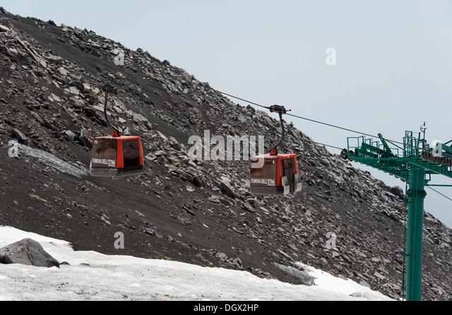 Mount Etna Cable Car Stock Photos Mount Etna Cable Car Stock