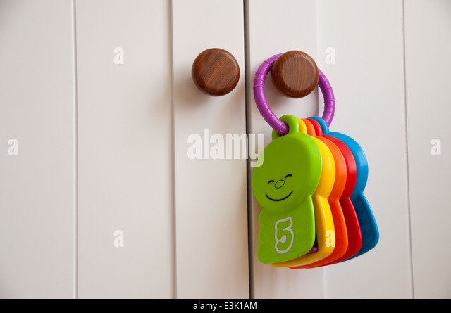 Babies toy hanging on a white wardrobe door in a nursery - Stock Image  sc 1 st  Alamy & Wardrobe Doors Stock Photos \u0026 Wardrobe Doors Stock Images - Alamy