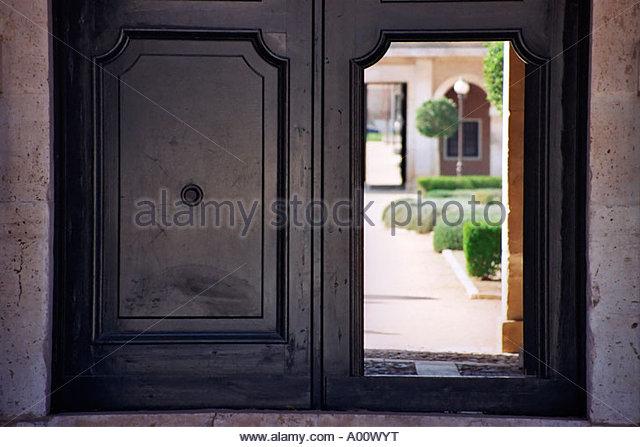 old door opened - Stock Image & Old Door Opened Open Stock Photos u0026 Old Door Opened Open Stock ... pezcame.com