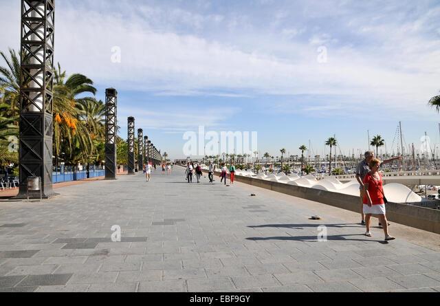 Barcelona beach club stock photos barcelona beach club for Beach club barcelona