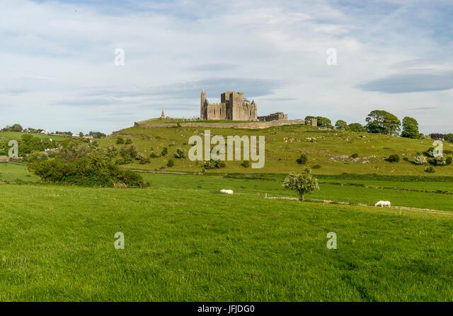 Rock of Cashel, Cashel, Co, Tipperary, Munster, Ireland, Europe, - Stock Image