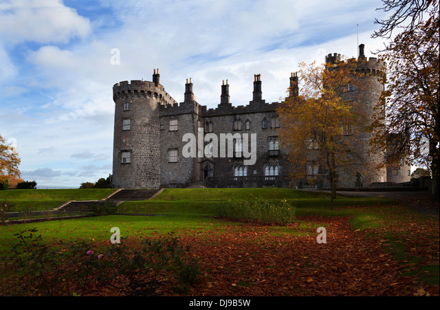 Nice Backyard Thomastown : Kilkenny Castle  rebuilt in the 19th Century County Kilkenny, Ireland