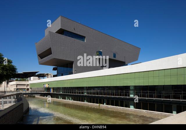 barcelona design museum disseny hub barcelona stock image