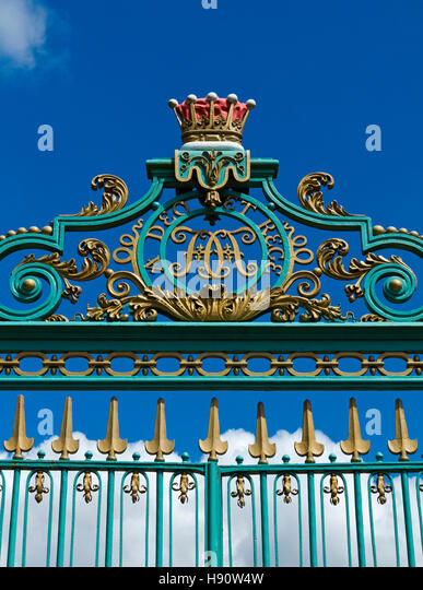 English Park And Gates And Near Stock Photos English Park And