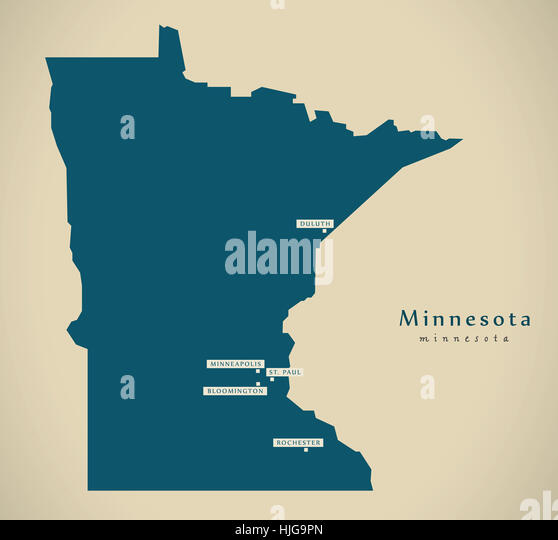 Minnesota State Map Stock Photos Minnesota State Map Stock - Map of the us with mn highlighted
