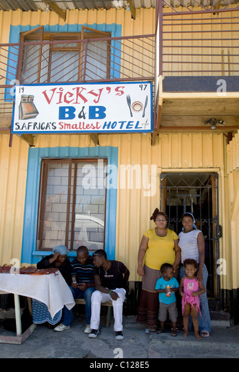 Family In Front Of Vickyu0027s Bed And Breakfast, Khayelitsha Township, Cape  Town, Western