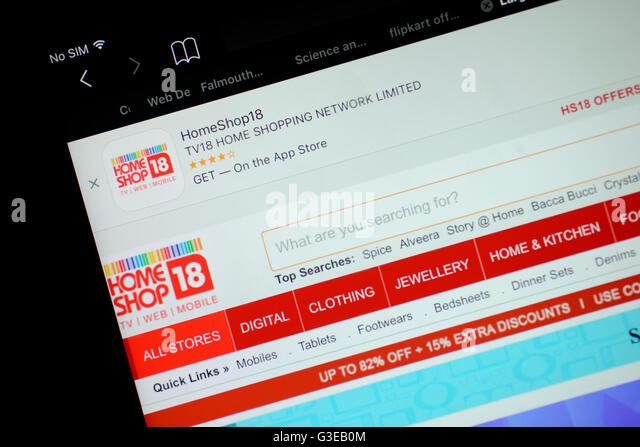 Popular Social Media Icons Home Shop18 Website Stock Image