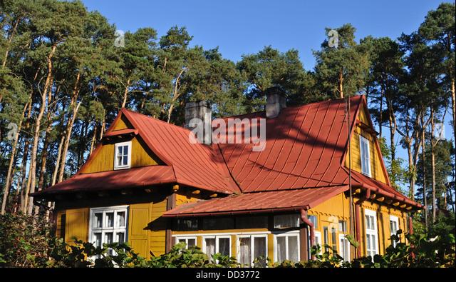 Mazovia region stock photos mazovia region stock images alamy - Traditional polish houses wood mastership ...